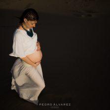 Fotos de maternidad embarazo Las Palmas de Gran Canaria dunas de