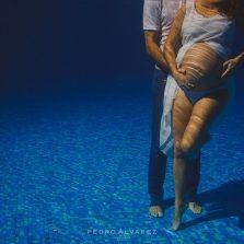 Fotos de maternidad acuáticas en Las Palmas de Gran Canaria