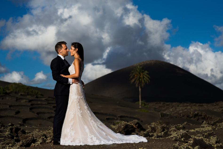 Fotos de boda en Lanzarote, post boda Lanzarote