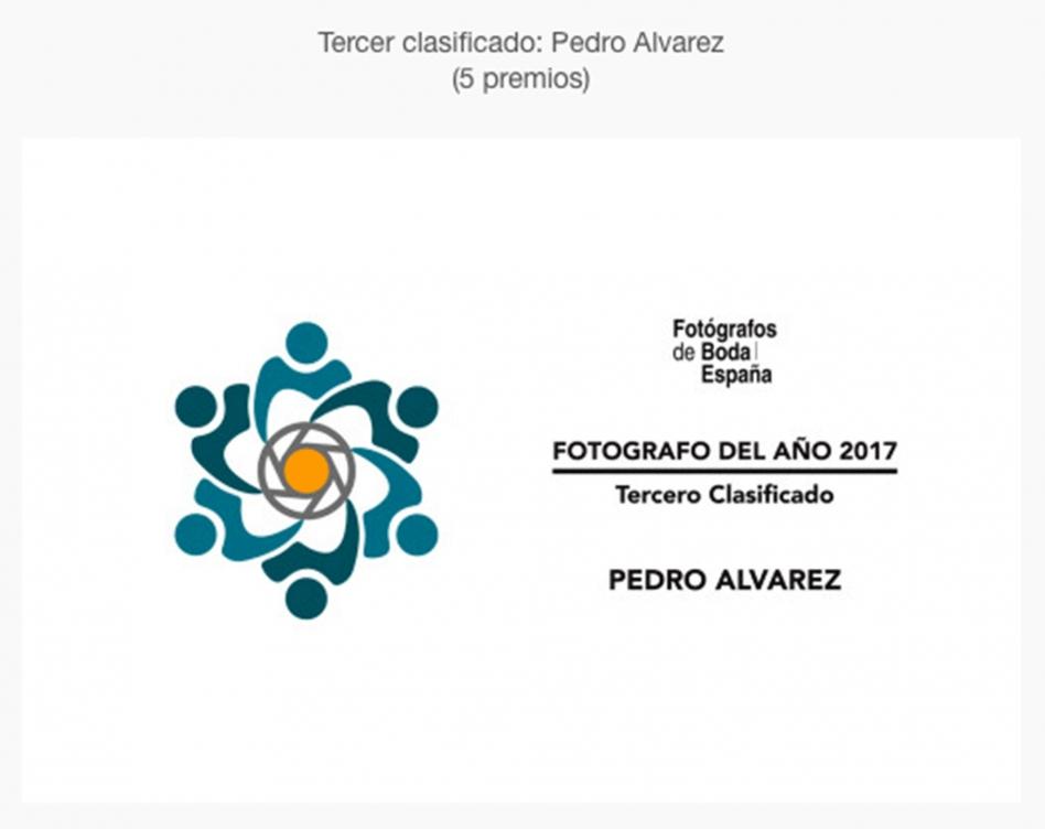 Fotografías de boda premiadas a Pedro Álvarez